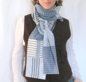 Shirty flirty scarf by Nancy Gamon